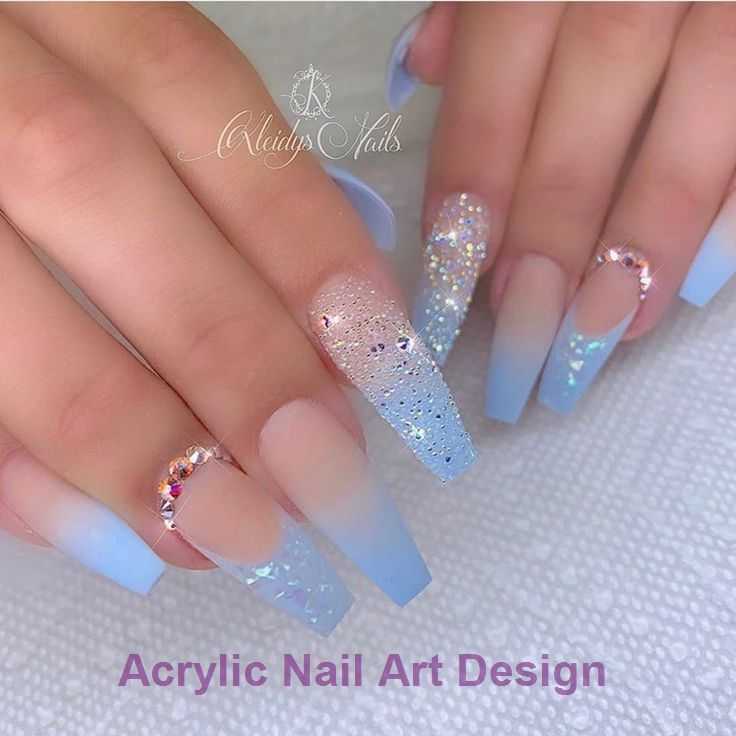 20 Great Ideas How To Make Acrylic Nails By Yourself 1 Acrylic Acrylicnail Blue Acrylic Nails Popular Nail Designs Summer Acrylic Nails