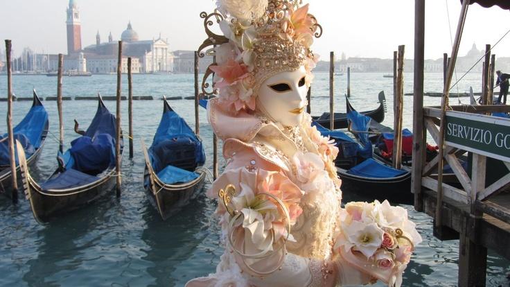 A beautiful Mask in a wedding Dress  www.kookyphotography.com