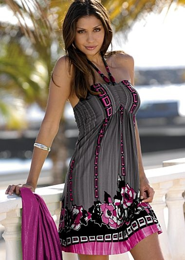 Halter Print Dress - $39 venus.com  Aruba worthy?