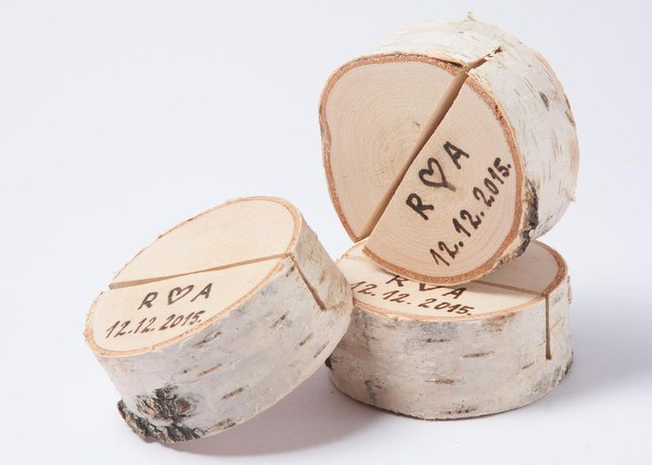 10 personalisiert Tischkartenhalter aus Holz von DINDINTOYS auf DaWanda.com