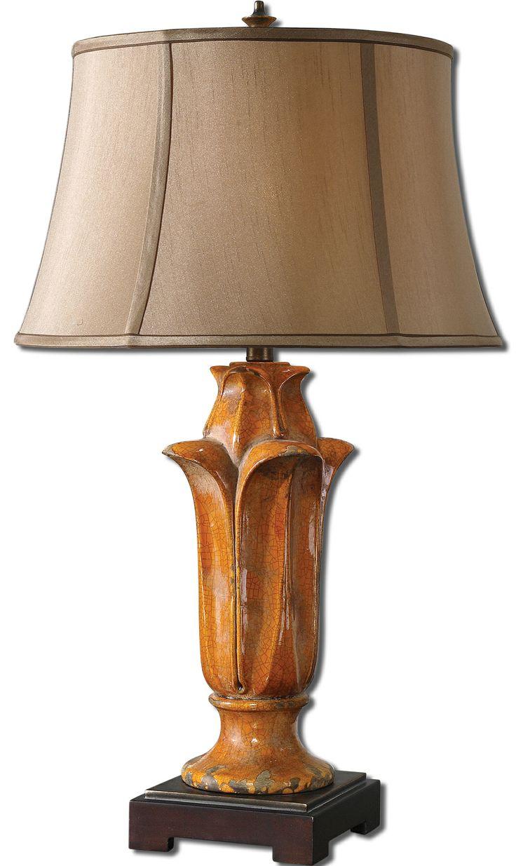 Unusual pendant lamps inspired by medusas digsdigs - Uttermost Tulipano Orange Table Lamp