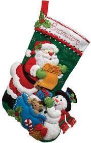 Resultado de imagen para stocking felt elf bucilla