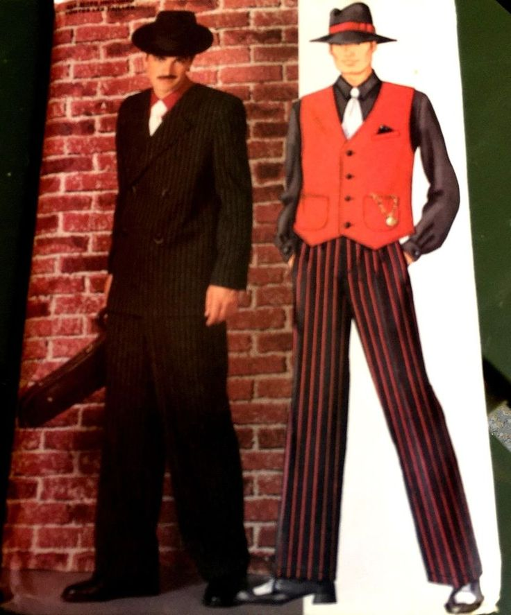 ZOOT SUIT Gangster Roaring 20s Mafia Costume Pattern 3241 XS-XL Chest 30-48