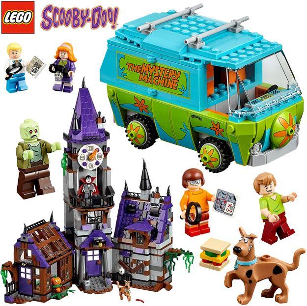 LEGO Scooby Doo com Mystery Mansion, Mystery Machine Van e Outros!