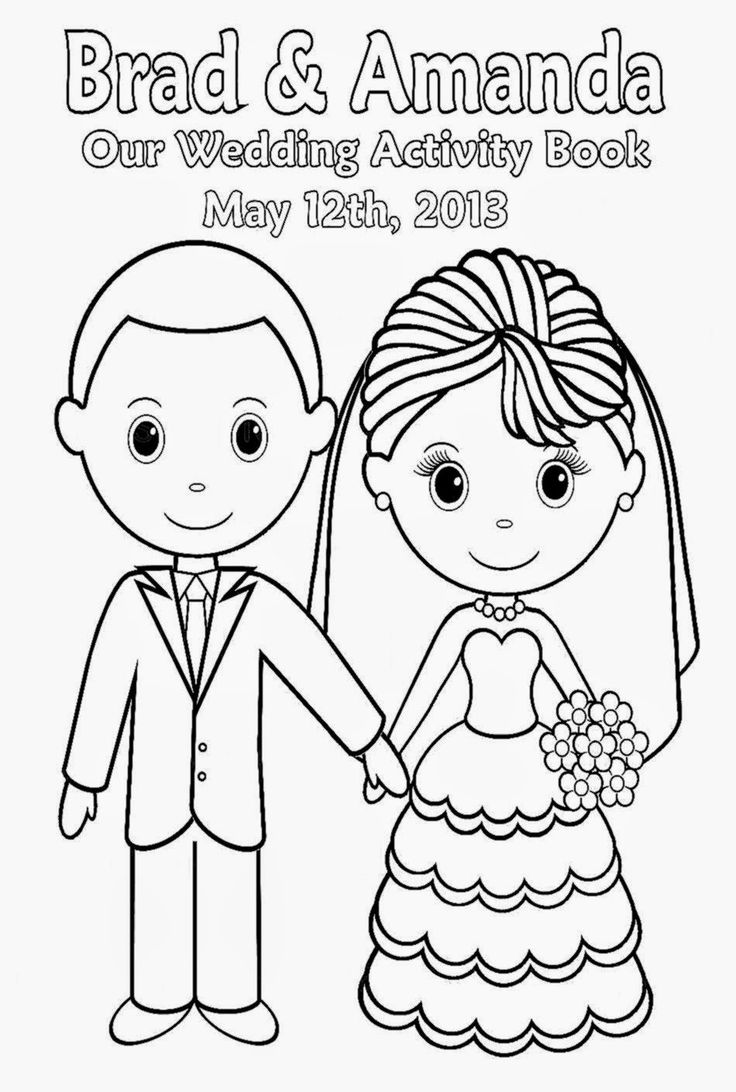 wedding coloring book pages coloringpages321 - Kids Wedding Coloring Book