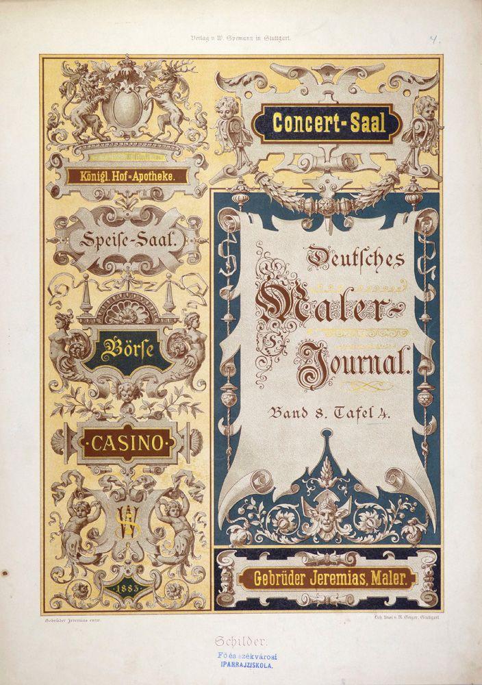 Fresh Gebr der Jeremias M Seeger Stuttgart Schilder Band