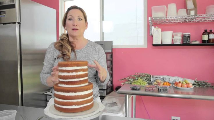 The Naked Cake: How to Slice, Ice, Stack, and Decorate... amazing video! I could totally do this!