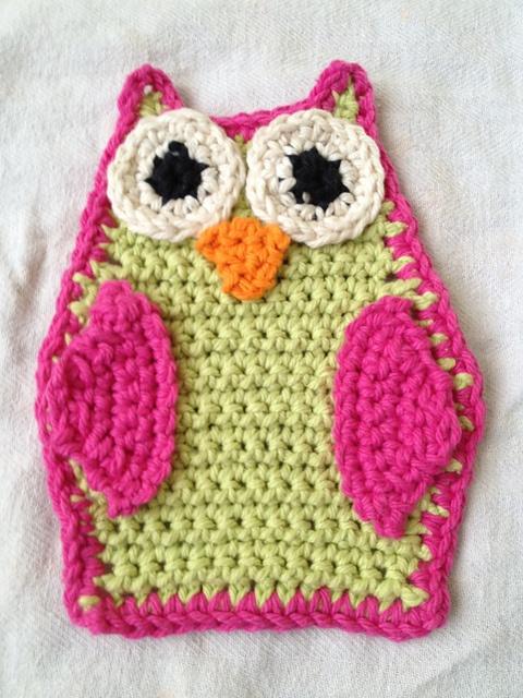 Ravelry: Owl Wash Cloth Crochet pattern by Semi Sweet Charm.