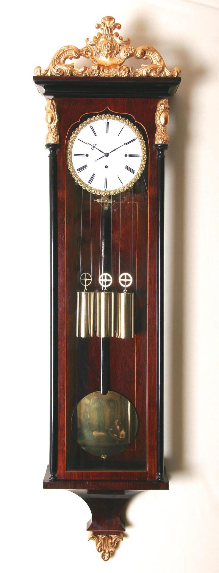 Vintage Vienna Regulator clock.