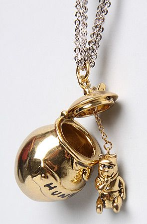 Disney Couture Jewelry The Pooh Collection Hunny Jar Necklace : MissKL.com - Cutting Edge Women's Fashion, Accessories, Shoes & Beauty. The Originators. Shop. Party. Play.