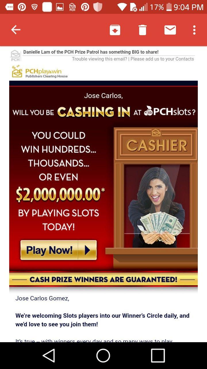 I jcg claim pch $2,000,000 00 by playing slots! | pch games | Play