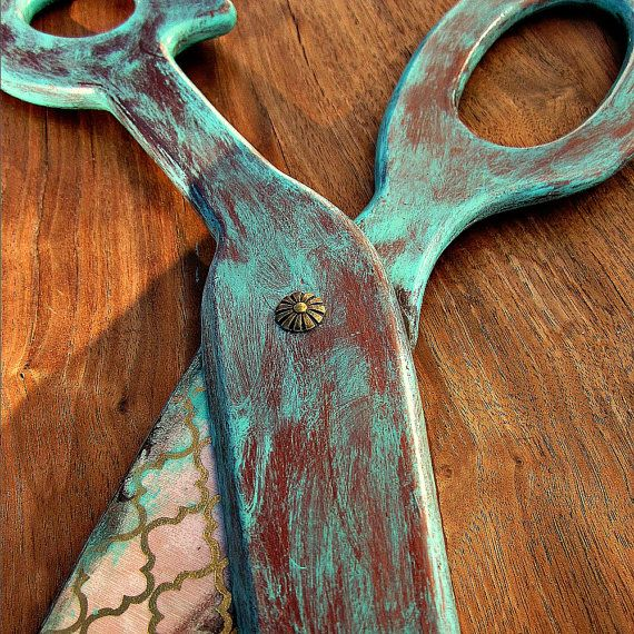 Large scissors wall decor : Big trellis rustic scissors decorative wall art made to