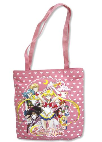 New official Sailor Moon S tote bag with all ten Sailor Scouts! http://www.moonkitty.net/reviews-buy-sailor-moon-bags-backpacks.php