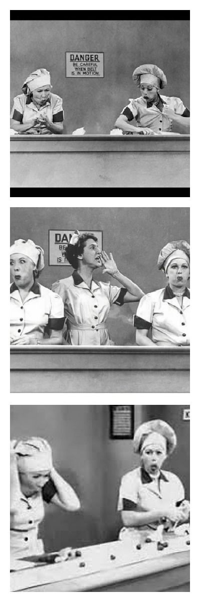 I Love Lucy- Lucy and Ethel- Chocolate Factory