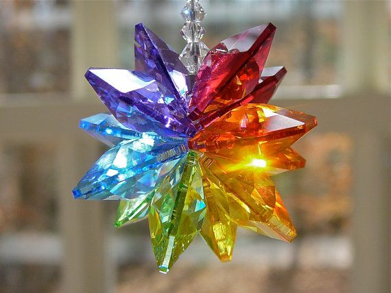 Alexandra Short 5 Swarovski Crystal by HeartstringsByMorgan, to hang in the window.