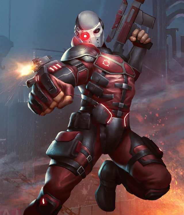 Injustice 2 Mobile Roster Deadshot Art Deadshot Dc Comics Art