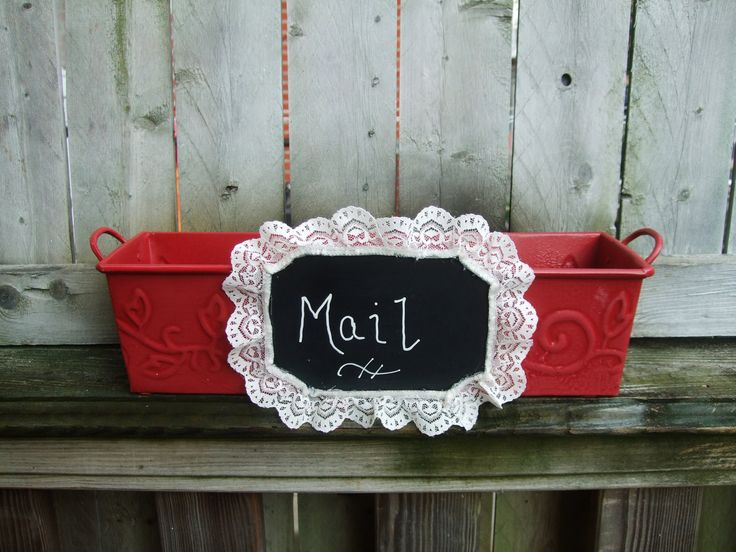 Chalkboard Storage Box / DIY Home by CarolesWeddingWhimsy on Etsy, $35.99