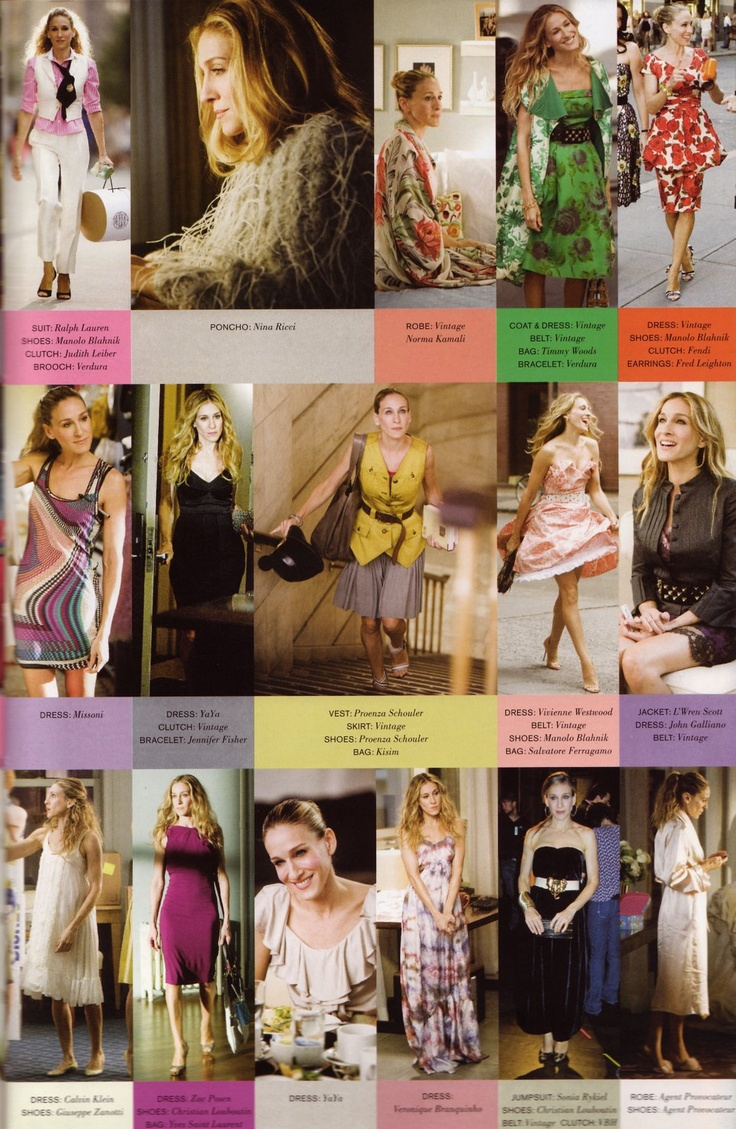 Coca Sun: Sex And The City: The Movie: Carrie's Outfits
