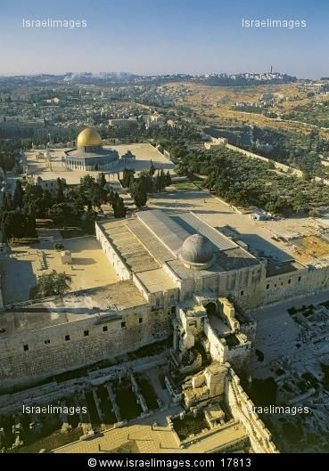 The Temple Mount from the south looking northward. The Temple Mount belongs to the Jews. It was given to them by God. It is their land, has always been their land, and will be theirs again. Muslims will soon see that they have been worshipping a dead God. Jesus Christ is the one and only true Messiah.