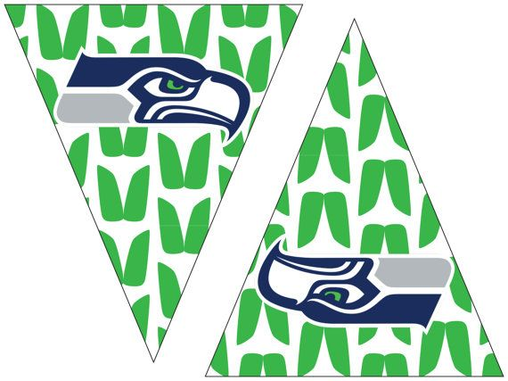 Seahawks Printable Flags With Green Background Easy Party