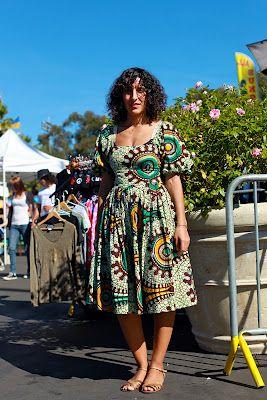 fashionist: african print at rose bowl pasadena