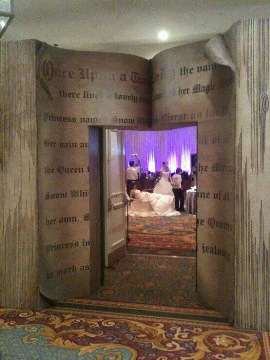 In my Book Heaven, I would build a story book wedding entrance that looks like a book just like this.