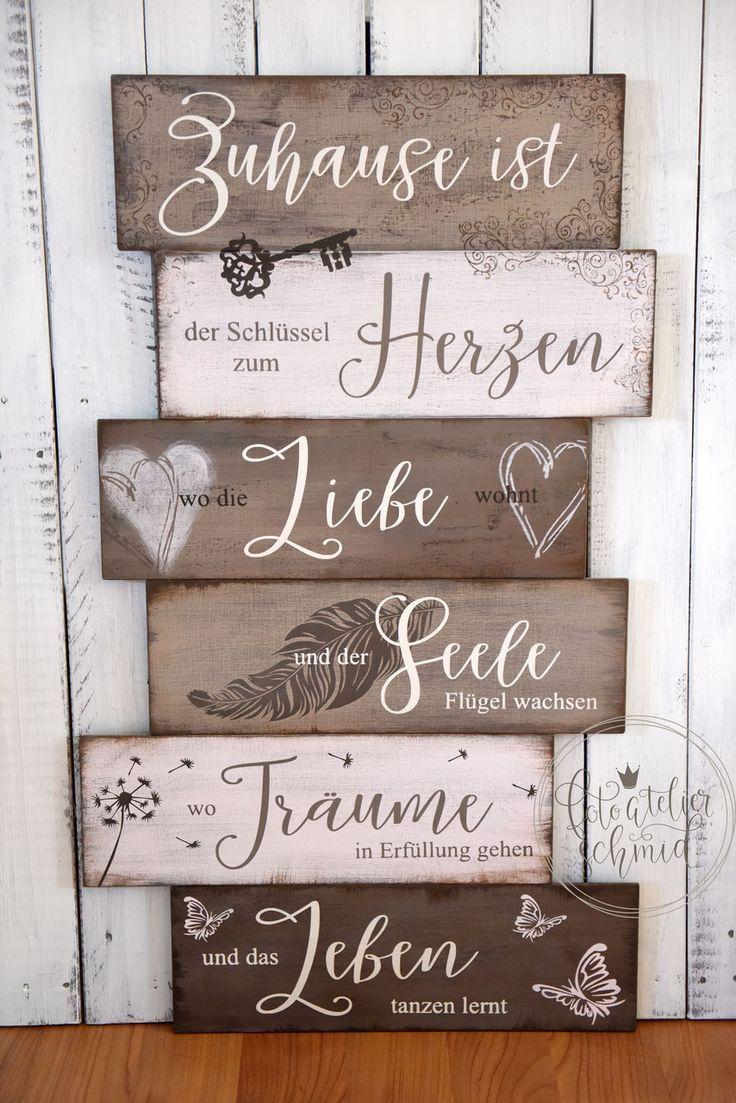 Meine Holz Metallschilder Fertige Ich Alle Von Hand An Die Schilder Im Shop Sind Je 1 X Erhaltlich In Den Me Metallschilder Holz Beschriften Geschenk Einzug