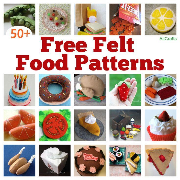Felt Food Patterns | ... of 50 Free Felt Food Patterns to make a cute stash-buster today