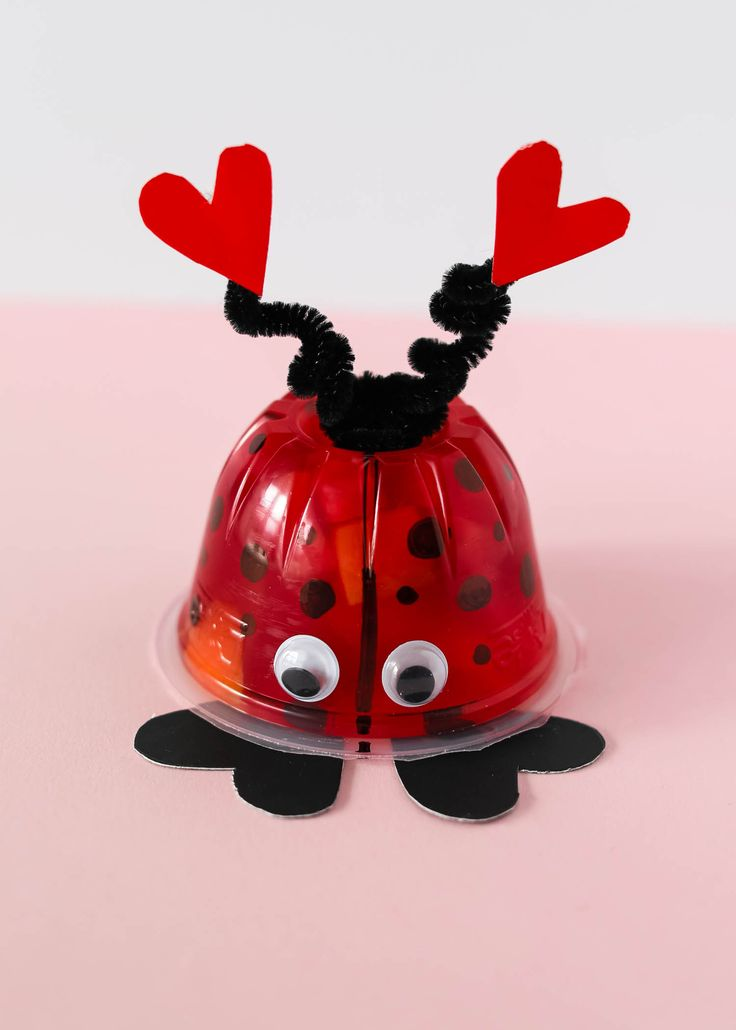 These Valentine's Day Love Bug Fruit Cups are the perfect non-candy Valentine for kids. They would make a great class party snack or lunch box treat.