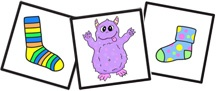 Sock Monster Match Game for Kids From www.daniellesplace.com
