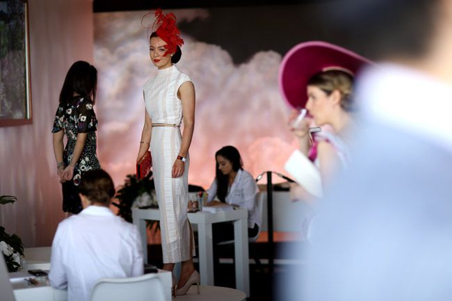 Caulfield Cup Fashion Stable Runway. Photo: Supplied