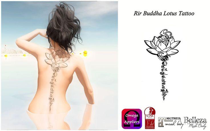https://flic.kr/p/LAaKc7 | Rir Buddha Lotus Tattoo ( Slink, Maitreya,Belleza…