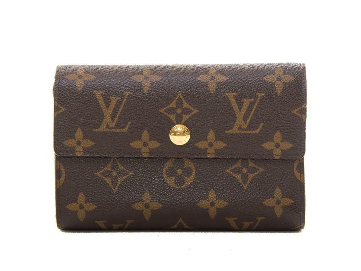 Authentic Louis Vuitton Monogram Portefeuille Alexandra Wallet M60047