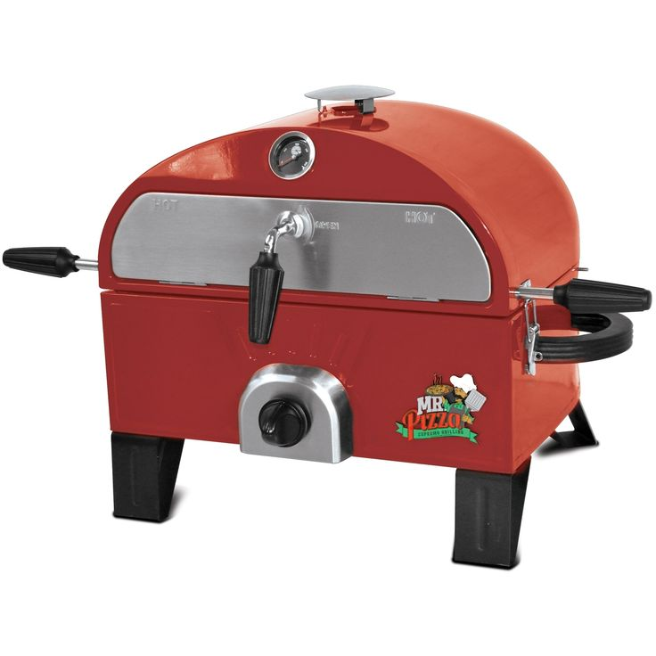 Mr. Pizza G0T1509M Pizza Oven and Grill - Red (Porcelain)