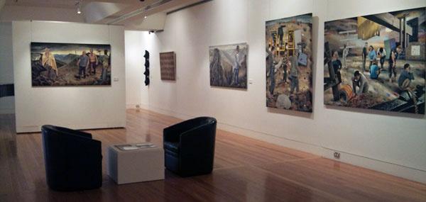 Steve Lopes - Installation view, Coffs Harbour Regional Art Gallery.