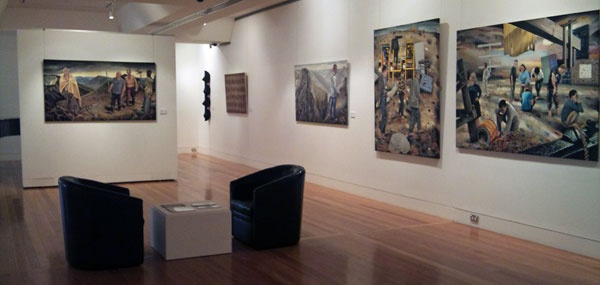 Steve Lopes - Installation view, Coffs Harbour Regional Art Gallery.