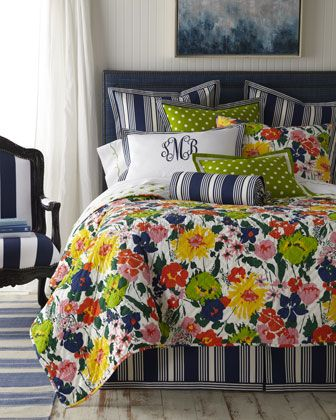 """""""Preppy"""" Bed Linens by Pine Cone Hill at Horchow."""