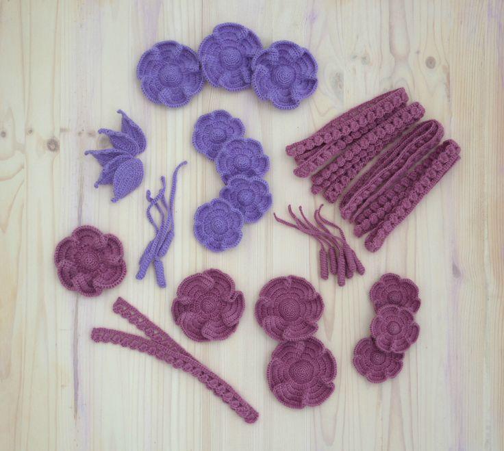 Декоративные элементы для украшения одежды #декородежды #декоркрючком #crochetdecor #crochetflowers #вязаныецветы