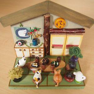 Cat Neko Gathering at Japanese Tatami Mat Room Handmade by Japanese Creator