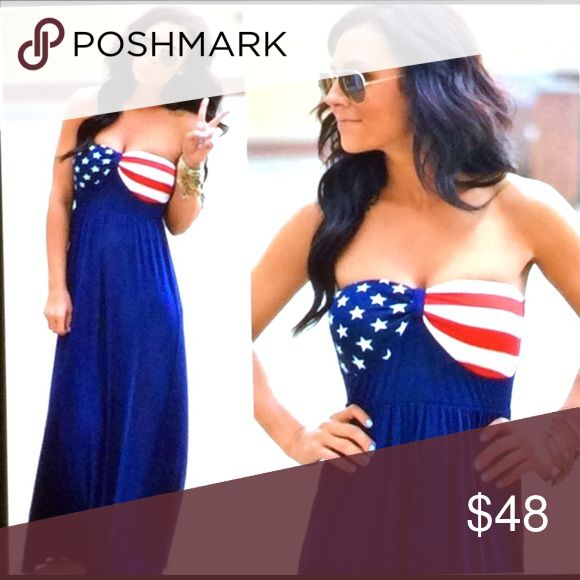 COMING SOONAMERICAN FLAG DRESS Great buy for 4th of July. Different Sizes will be available. ️RESERVE your order now. Dresses