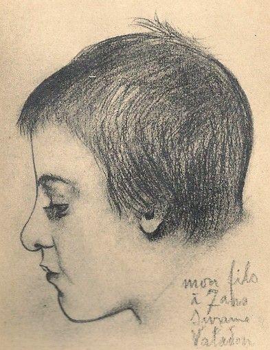 Portrait de Maurice Utrillo à 7ans par sa mère Suzanne Valadon.jpg. Portrait de Maurice Utrillo à 7ans par sa mère Suzanne Valadon.