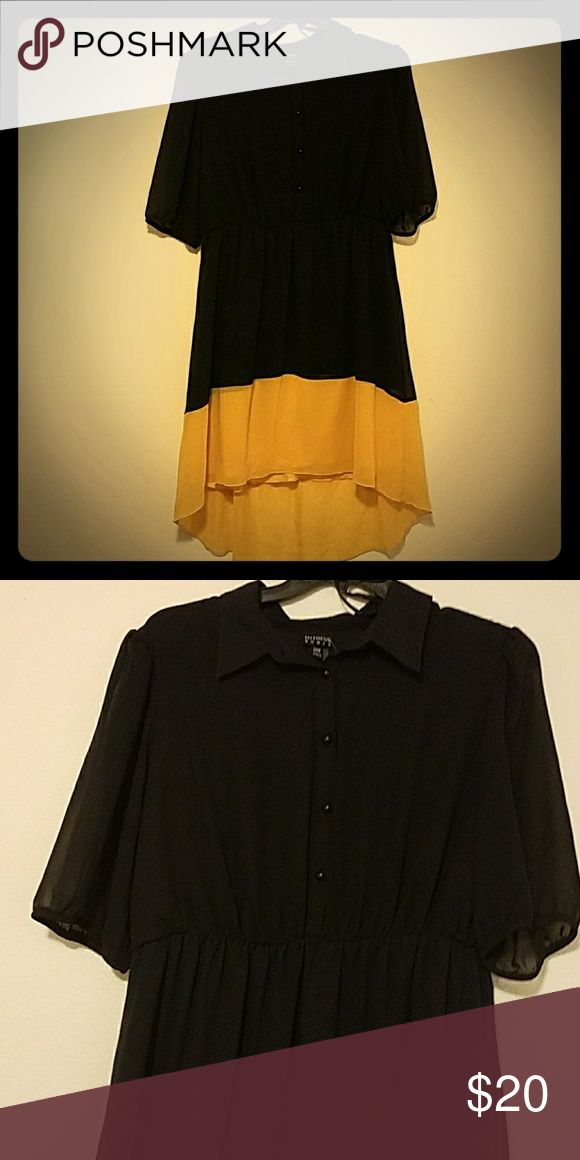 Black and yellow plus size dress Enfocus women casual black and yellow dress. Great for the office or a day in the park. Never worn, great conditon and so cute. Size 20w Dresses Midi