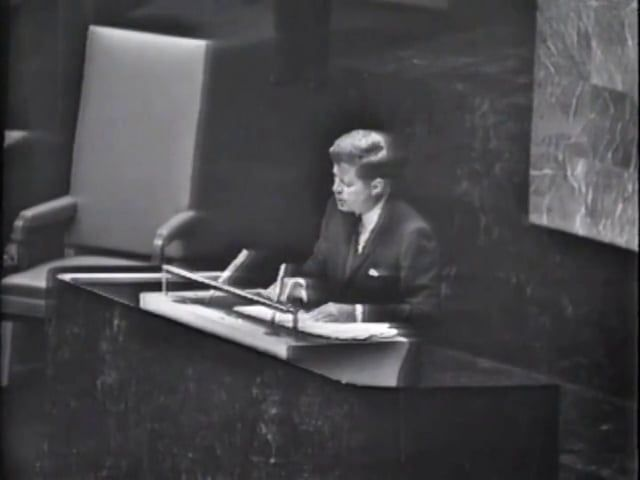 JFK Address at U.N. General Assembly, 25 September 1961 Freedom From War