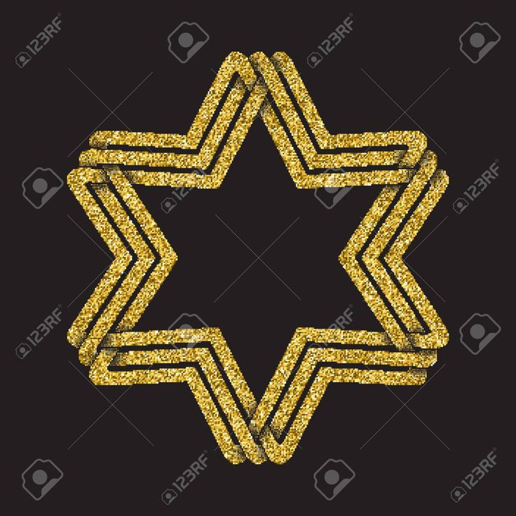 Golden glittering  template in Celtic knots style on black background. Tribal symbol in hexagram maze form. Gold ornament for jewelry design. Stock Vector - 63397275