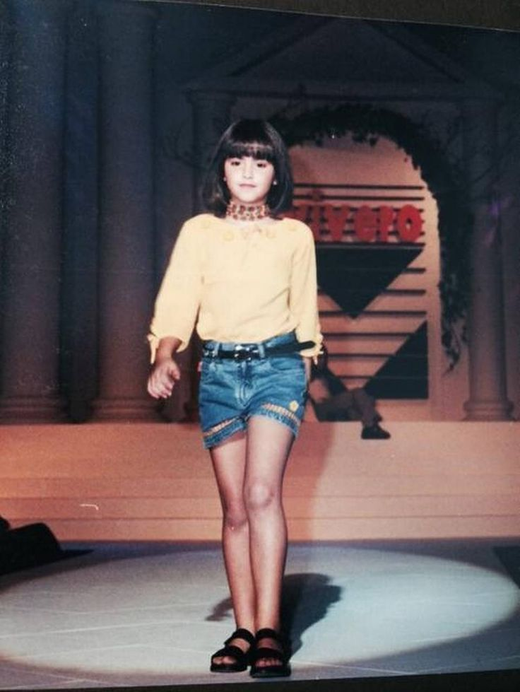 Desde la infancia Paulina Vega ya modelaba