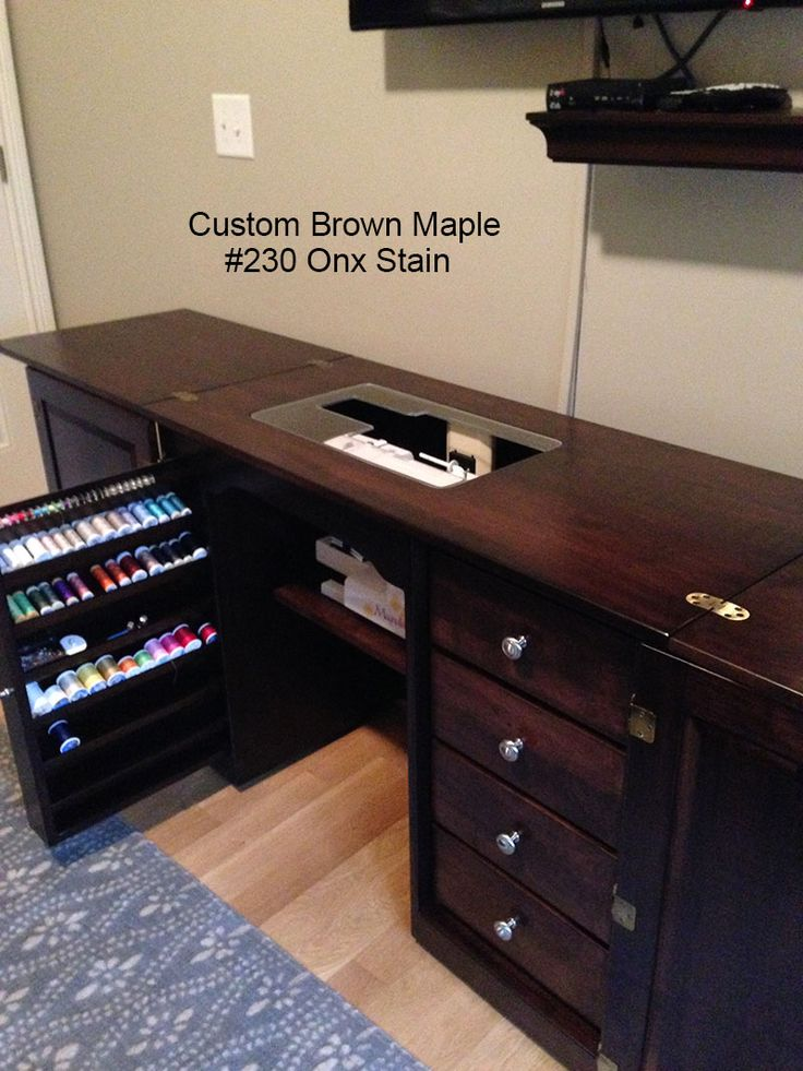 Amish<br>Furniture-Sewing<br>Machine<br>Cabinet