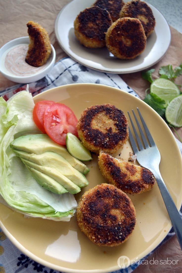 Croquetas de papa y atún (tortitas de atún y papa)  www.pizcadesabor.com