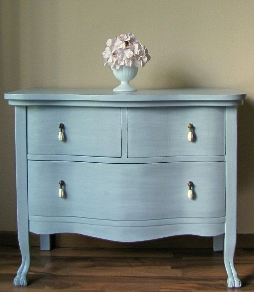 Painted Antique Grey Blue Dresser Beautiful Grey And