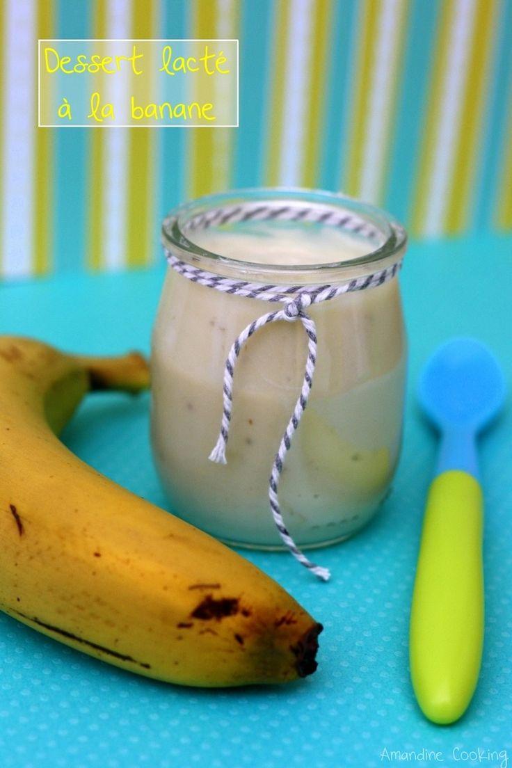 Crème banane et lait infantile