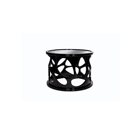 Caos Side Table by Boca do Lobo | Caos is a modern design black side table with curved top in black mirror. www.bocadolobo.com